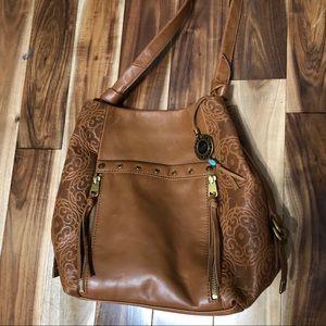 The Sak Collective Leather Ojai Bucket Tote Bag